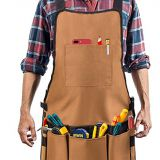 waterproof and protective tool apron by heavy duty canvas