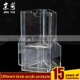 Trade Assurance clear rotating display leaflet file document newspaper rack acrylic brochure holder