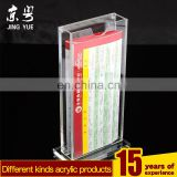 Square clear acrylic slatwall book holder book display case acrylic open book display stand