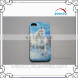 printing White Horse 3d plastic mobile phone case for iphone supplier