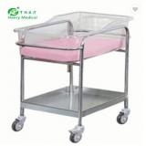 High quality machine grade Stainless Steel Baby Carriage Infant Bed Medical