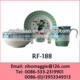 2014 Hot Sale Promotional 3pcs Kid's Ceramic Breakfast Dinnerware Set