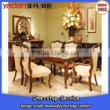 Marble top wooden dining table and chair for hotel/home use