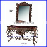 Latest China Antique Wood Marble Console Table with Mirror For Middel East Market s-1610