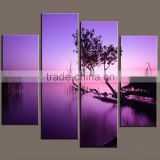 100% handpainted canvas paintings modern purple base landscape paintings art modern house home interior decorator home decor