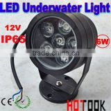 Wholesale 12V 6W LED Waterproof light Floodlight Lamp Underwater Flood Light warranty 2 years CE RoHS