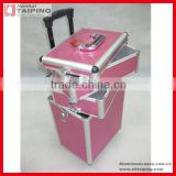 3in1 hairdressing makeup beauty nail case cosmetics trolley in pink