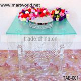 Acrylic table,crystal acrylic table for wedding cake stands,acrylic wedding table decoration (TAB-001)
