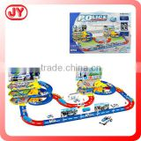 Funny police station toy cars race track with EN71