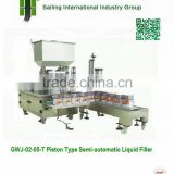 GWJ02-05-T Piston Type Semi-automatic Volumetric Liquid Filler, Paint Piston Filling Machine