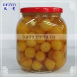 canned fruit yellow pitted cherry