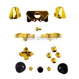 2016 Chrome Gold ABXY Dpad RT LT Triggers RB LB Full Buttons Set Mod Kits for XBOX ONE for xbox one controller parts
