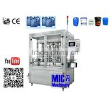 Micmachinery filling nozzle quantity can be customized coconut oil bottle filling machine liquid piston filler bottle filler