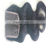 Alibaba express human hair brazilian silk base lace frontal front closure