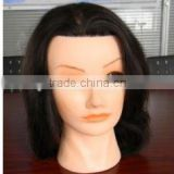 china manufacture practicing mannequin head nice looking face long hair training head for salon and beauty school