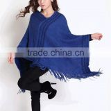 Fashion design ladies knit Mexican poncho winter poncho shawl custom sweater                                                                         Quality Choice