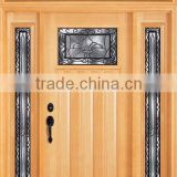 Glass Inserts American Style Exterior Wooden Door Designs For Home DJ-S9711MSTHS-2