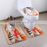 3D digital print 3pcs bath mat