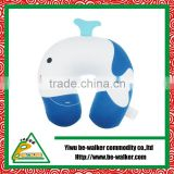 Soft Micro Bead Whale Travelling Neck Pillow Cushion Car Seat Pillow