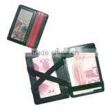 Promotional Elastic band leather magic wallets for money