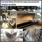 brush roller type stainless steel cassava washing machine/ industrial cassava peeling machine