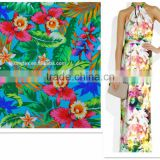 New Arrival Flannel Pattern digital printed Beach Dress Fabric for Women                                                                         Quality Choice