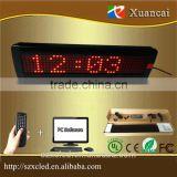 "P7.62-7x40 Red (14""x3.8"" inch) Time clock+graphic+text electroluminescent aluminium frame LED change display signs"