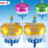 2015 new arrival 48*68.5cm birthday cake with candle foil helium balloons for kids birthday