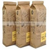 Foil lined kraft paper coffee bags biodegradable,aluminium foil kraft food bag