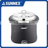 SUNNEX High Quality Standard 18/8 Stainless Steel Bain Marie 10 Litre Electric Soup Container
