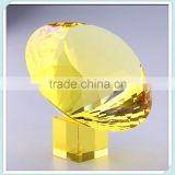Wholesale New Fashion Yellow Crystal Diamond Paperweight For Hotel Decoration