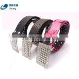 Cheap Rhinestone Strass Studded Fake Leather Cowgirl Belt