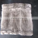 Natural White 100% Real Rabbit Fur Plate / Fur Blanket For Garments