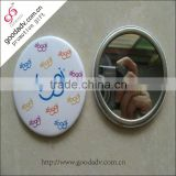 Decorated pocket mirrors/travel set cosmetic mirror/metal hand mirror                                                                         Quality Choice