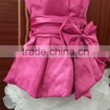 Professional oem tutu design sleeveless dress party princess birthday for girl kids fashion bowknot yarn layer child puffy dress