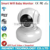 Hot HD Wifi Temperature Alarm Lullaby 2 Way Audio Baby Monitor Wireless IP Camera Supplier