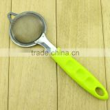 Stainless Steel Fine Mesh Strainer Colander Sieve Kitchen Tools With ABS Handle