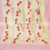 100% COTTON PRINTED BATH TOWELS FOR KIDS PINK BEE PATTERN