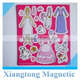 dress up fridge magnet DIY magnet dolls set/magnetic dress up puzzle