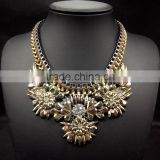 new design resin flower necklace vintage jewelry fashion necklaces for women 2014 collar