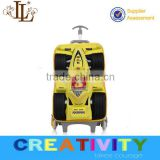2015 fashion cartoon design kids vivid formula car EVA kids trolley luggage/school bag/travel bag