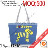 Promotional natural handled organic cotton tote bag ,cotton shopping bag with custom logo