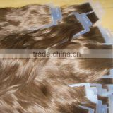 100% pure human hair 8 to 30 inch tape hair extensions skin weft
