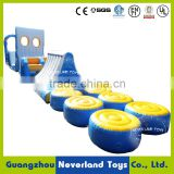 Hot Selling NEVERLAND TOYS 25M Pass Through Inflatable Summer Games Water Float Sport For Kids And Adults