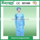 Shirt Collar Non Woven PP Surgical Gown Lab Coat Cheap Price Medical Doctor
