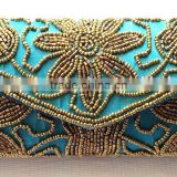 Wholesale prices Beautiful beads embroidered Purse Ethnic Clutch Women Handbag India