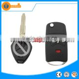 Best selling car flip folding remote key shell cover wholesale for mitsubishi outlander pajero 4 colt Lancer 9 10