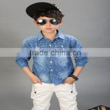 Wholesale Alibaba denim long sleeve boy shirt