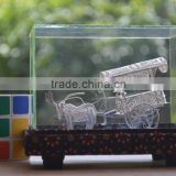 Hartati Heritage Javanese Carriage Andong (1 Horse), Traditional Boat, Miniature Souvenir Silver Plated
