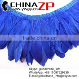 Best Supplier ZPDECOR Factory Dred Royal Blue Goose Fring Trim Feathers for Wedding Decoration Fashion Show